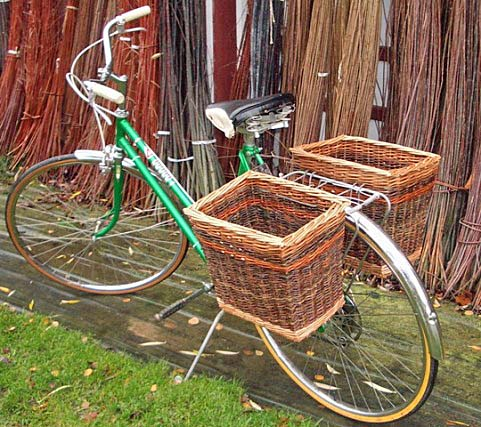 Bikes With Baskets willow bike baskets