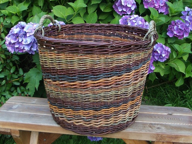 Christie's colorful laundry basket