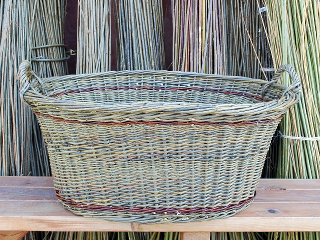 two load laundry basket
