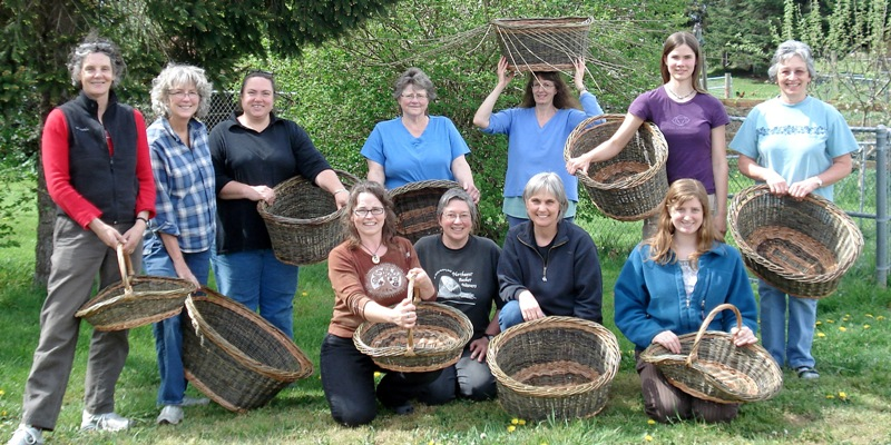 May 2-3 willow basketry class