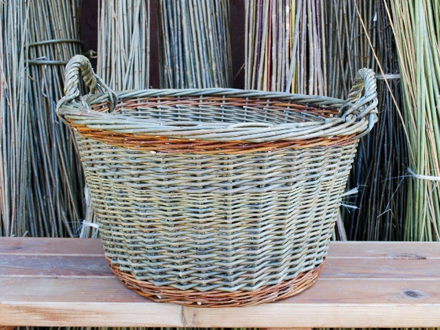 basic round laundry basket