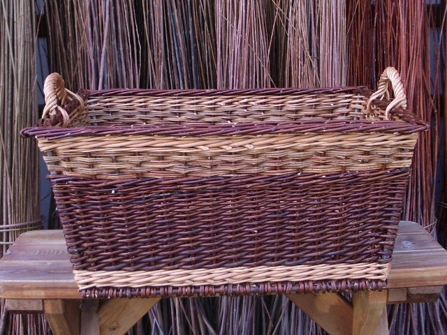 square willow laundry basket