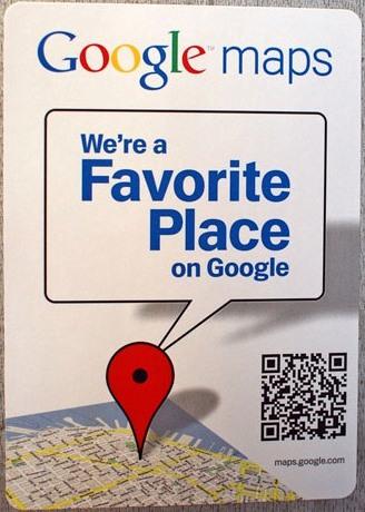 favorite place on google