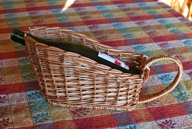 wine bottle basket