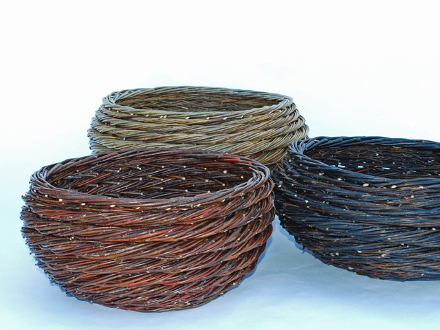 three willow rope coils