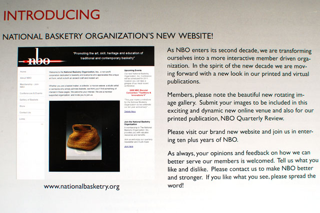 National Basketry Organization newsletter cover