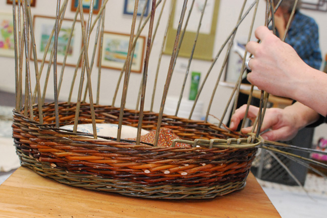 Katherine Lewis basketry class
