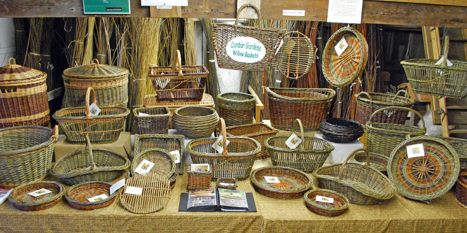 Dunbar Gardens willow baskets display