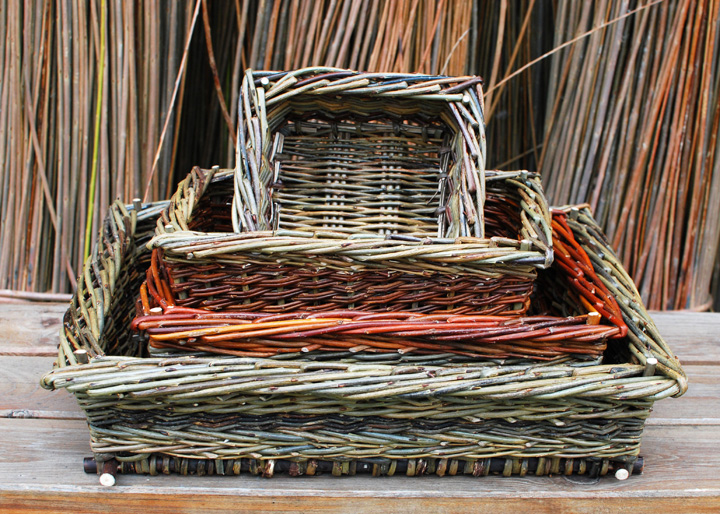 square willow baskets