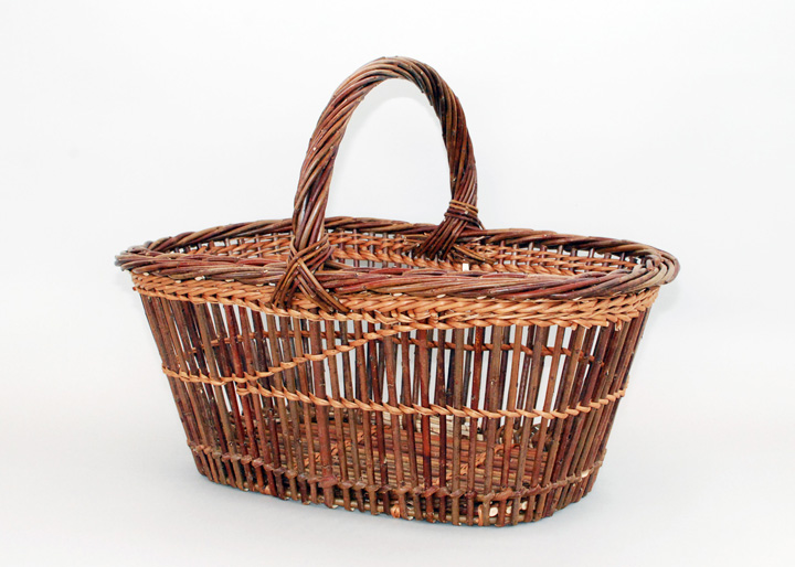 fitched willow market basket
