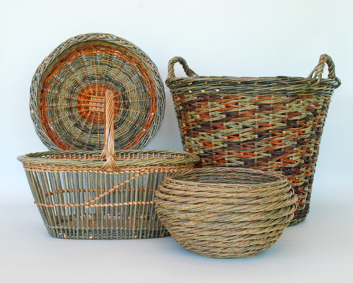 Anacortes Arts Festival willow baskets by Katherine Lewis