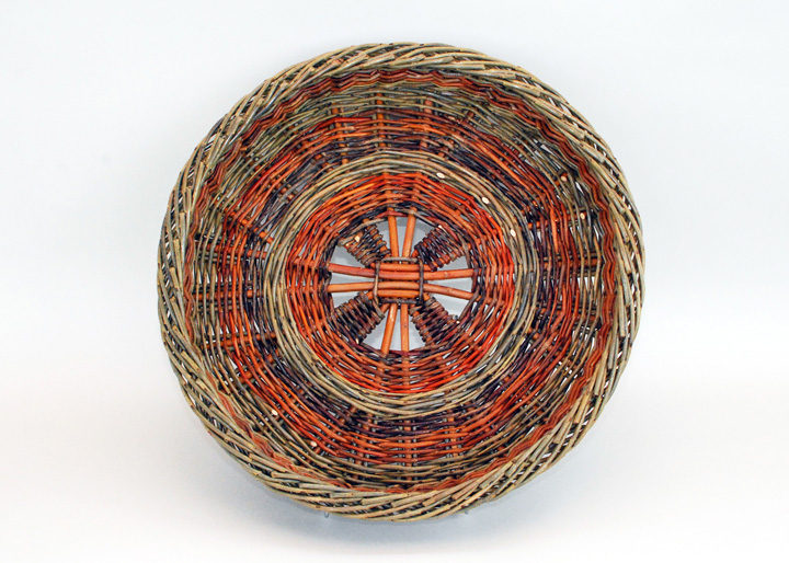 Irish willow potato basket
