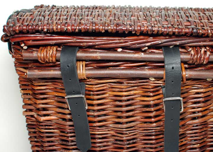 willow basket bicycle panniers by Katherine Lewis