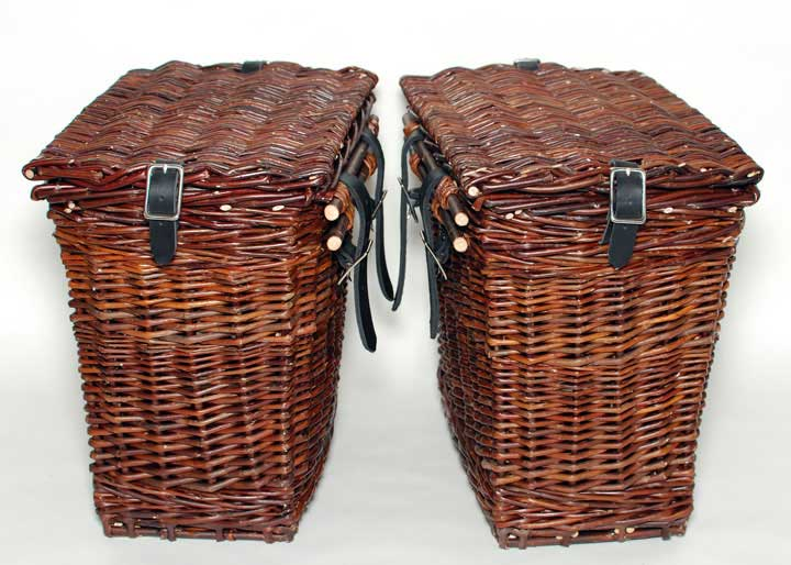 Handmade Bicycle Baskets : The mistress bicycle basket panniers willow