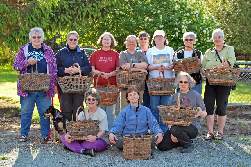 willow basket making class with Katherine Lewis