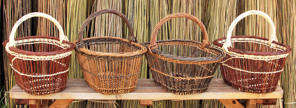 fitched willow baskets by Katherine Lewis