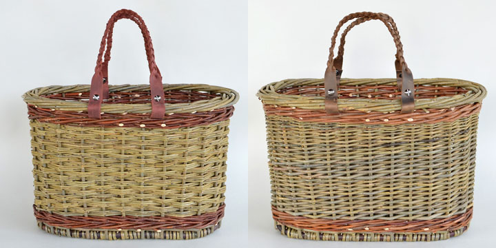 two willow totes by Katherine Lewis