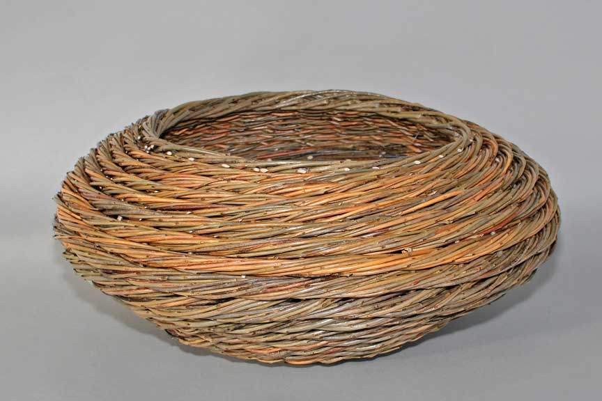 willow rope coil basket by Katherine Lewis
