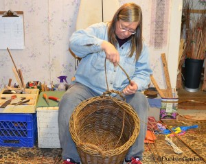 Katherine Lewis willow basketmaker