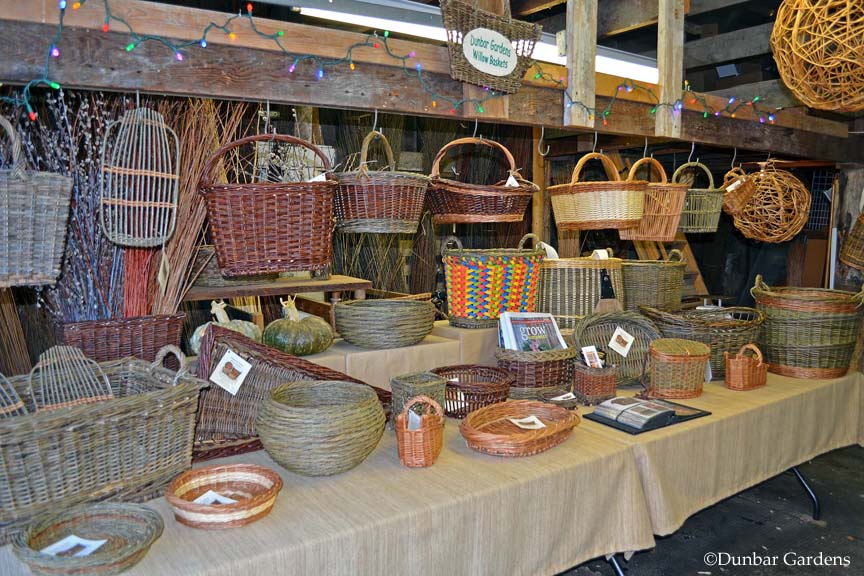 Dunbar Gardens farmstand willow baskets
