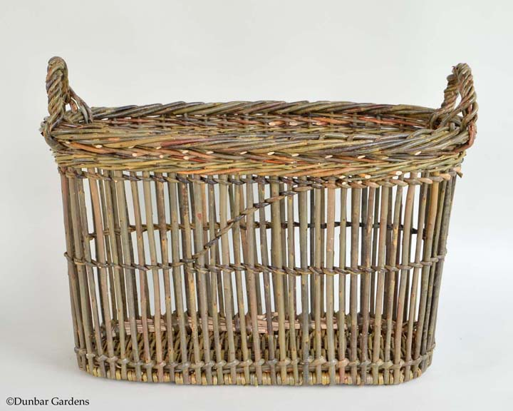 willow magazine basket by Katherine Lewis