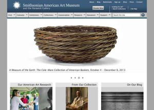 Katherine Lewis willow basket on the Smithsonian's website