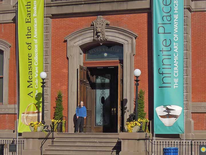 Katherine Lewis at the open Renwick Gallery