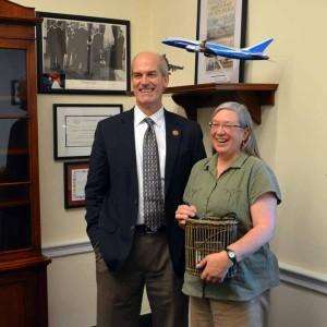 Representative Rick Larsen and Katherine Lewis
