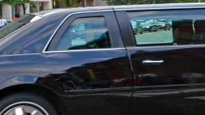 Vice-President in motorcade