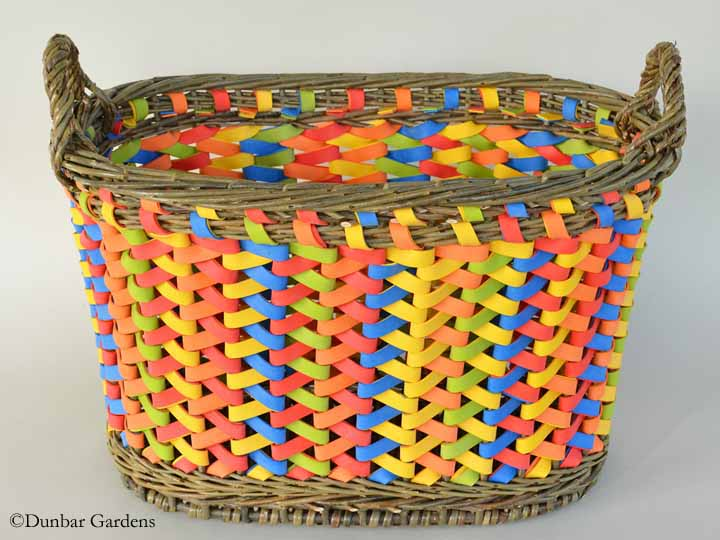 Katherine Lewis basket woven from willow and rubber