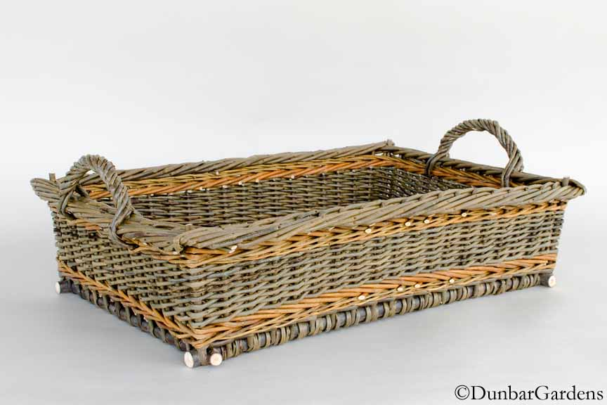 willow basket tray by Katherine Lewis